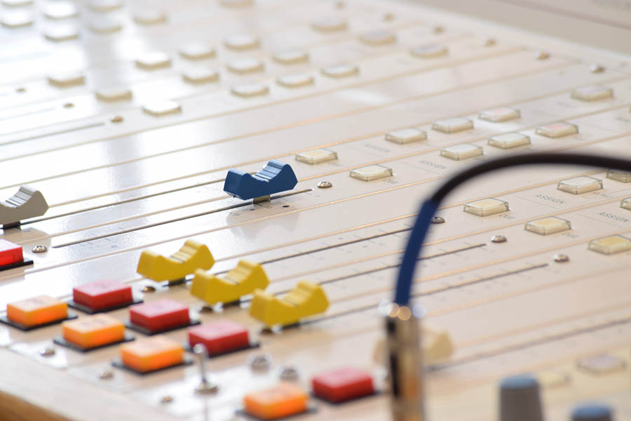 Photograph of a mixing desk
